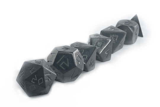 Tungsten Heavy Metal Dice Set