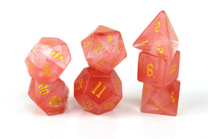 Watermelon Tourmaline Semi Precious Stone Dice Set