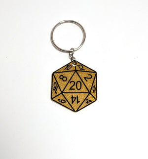 D20 Keychain by Forever Grow
