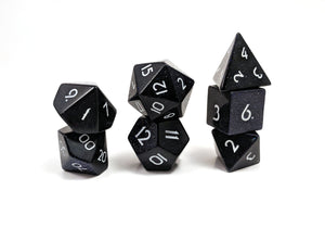Blue Sandstone Hand Carved Semi-Precious Stone Dice Set