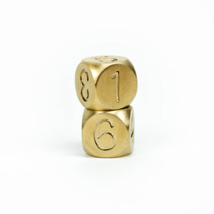 Brass D6 in Swash