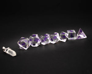Crown Crystal - Purple script