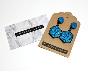 D20 Drop Earrings by Forever Grow