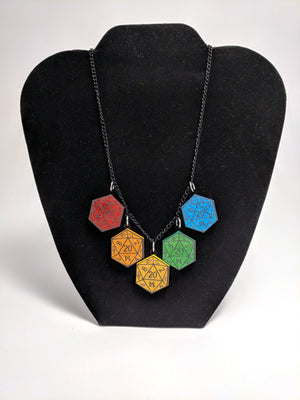 D20 Rainbow Necklace by Forever Grow