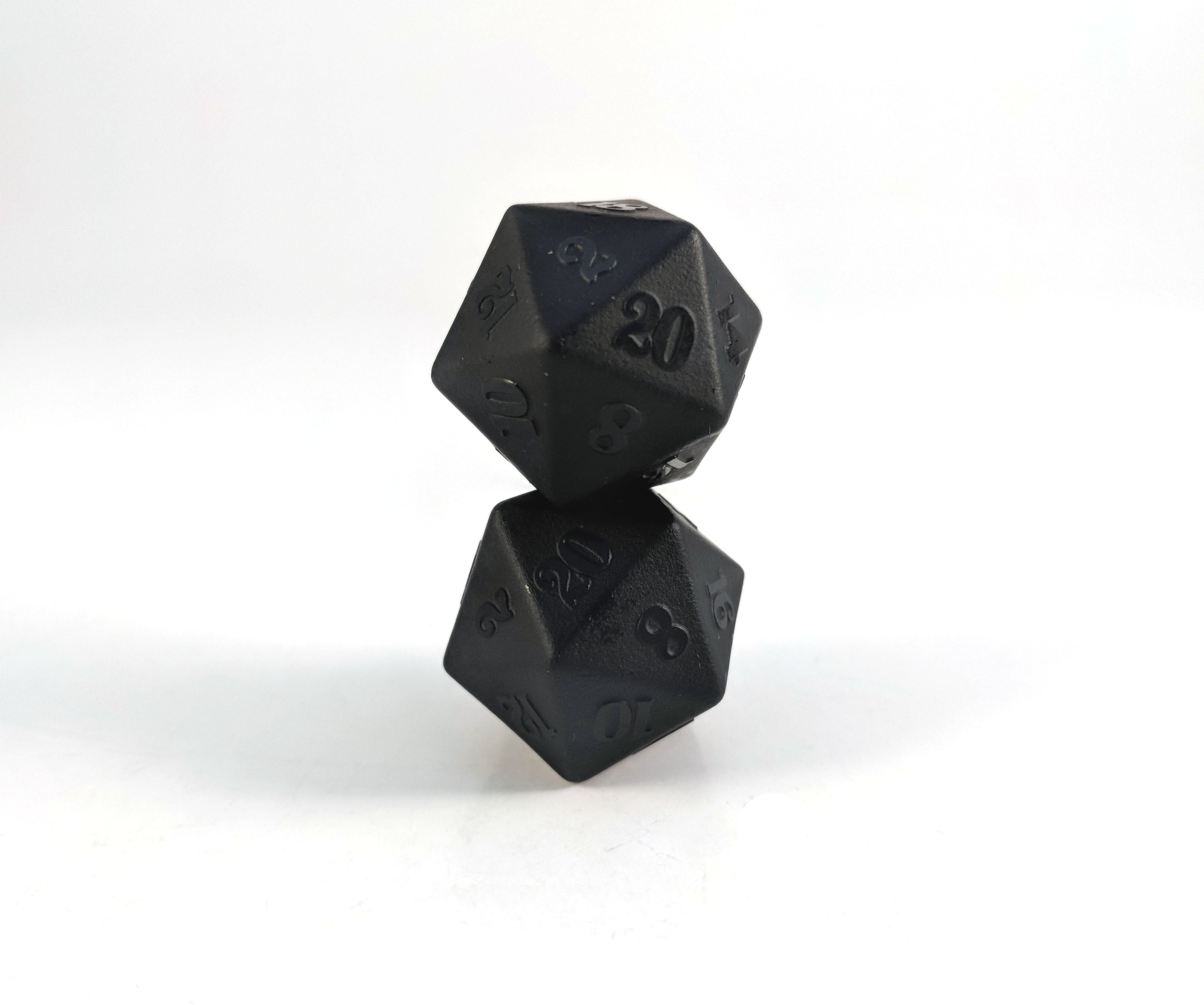 Raised Obsidian Semi Precious Stone D20 Dice