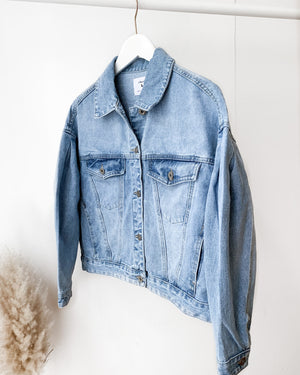 Load image into Gallery viewer, Oversized denim jacket