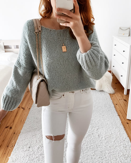 Strickpullover in Mint