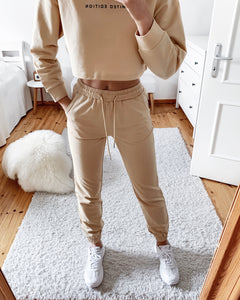 Jogger Set in Cremegelb