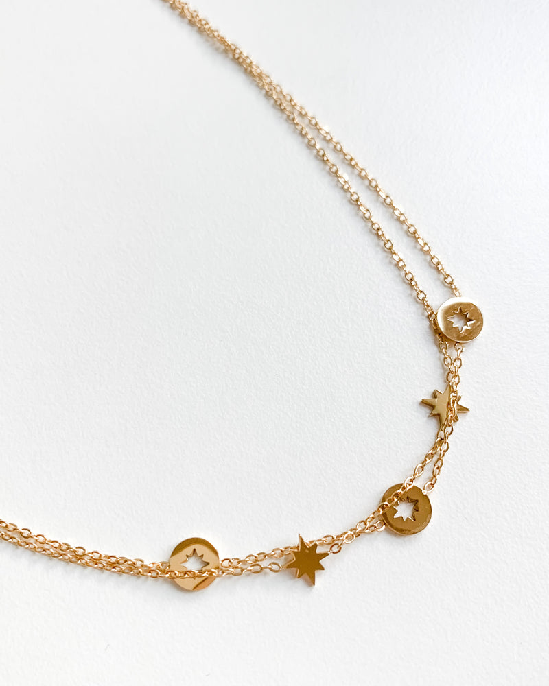 "Gold""Stars""necklace"