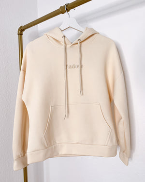 Load image into Gallery viewer, Cream hoodie