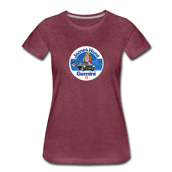 Women's Premium T-Shirt - James Hunt Gemini - heather burgundy
