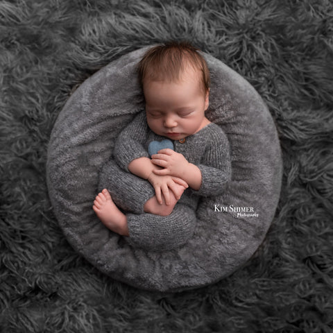 Footless Knitted Romper - FleurFotoKnits - Newborn & Sitter Photography Props