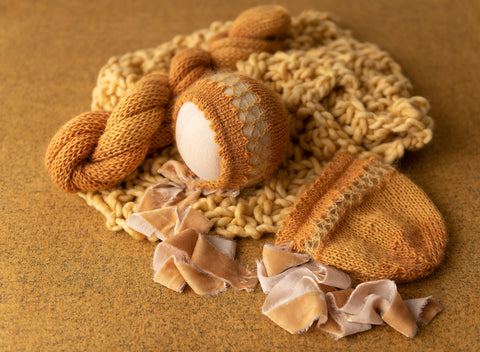Fall Splendor Studio Set - FleurFotoKnits - Newborn & Sitter Photography Props