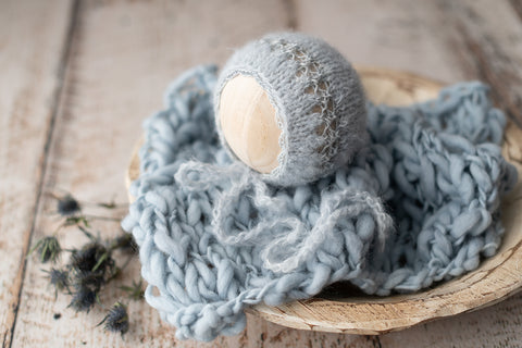 """Puff"" Bonnet & Layer Set - FleurFotoKnits"