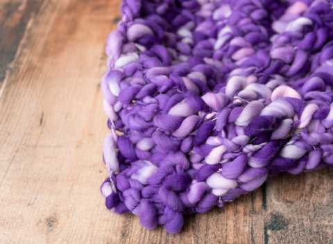 Purple & Lilac Layer - FleurFotoKnits