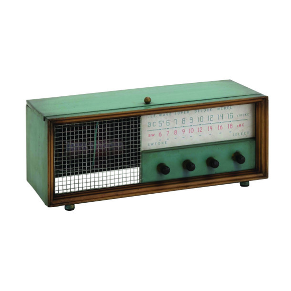 radio decorativo verde