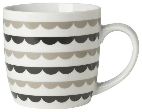 Taza Geometry Scalloped