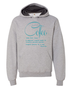 Coffee Defined; Hoodie: Athletic Heather