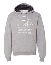 Load image into Gallery viewer, Coffee Defined; Hoodie: Athletic Heather