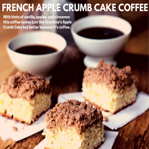 French Apple Crumb Cake Coffee
