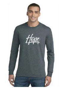 Hope Long Sleeve Lightweight Tee- Blank Back