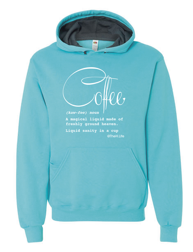 Coffee Defined; Hoodie Scuba Blue