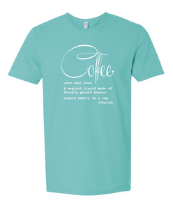 Coffee Defined; Tshirt Scuba Blue