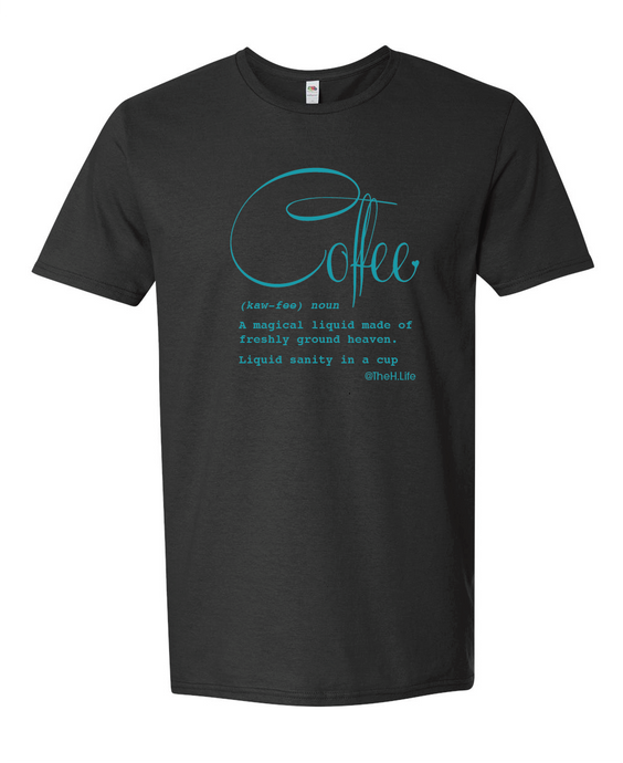 Coffee Defined; T-Shirt Black