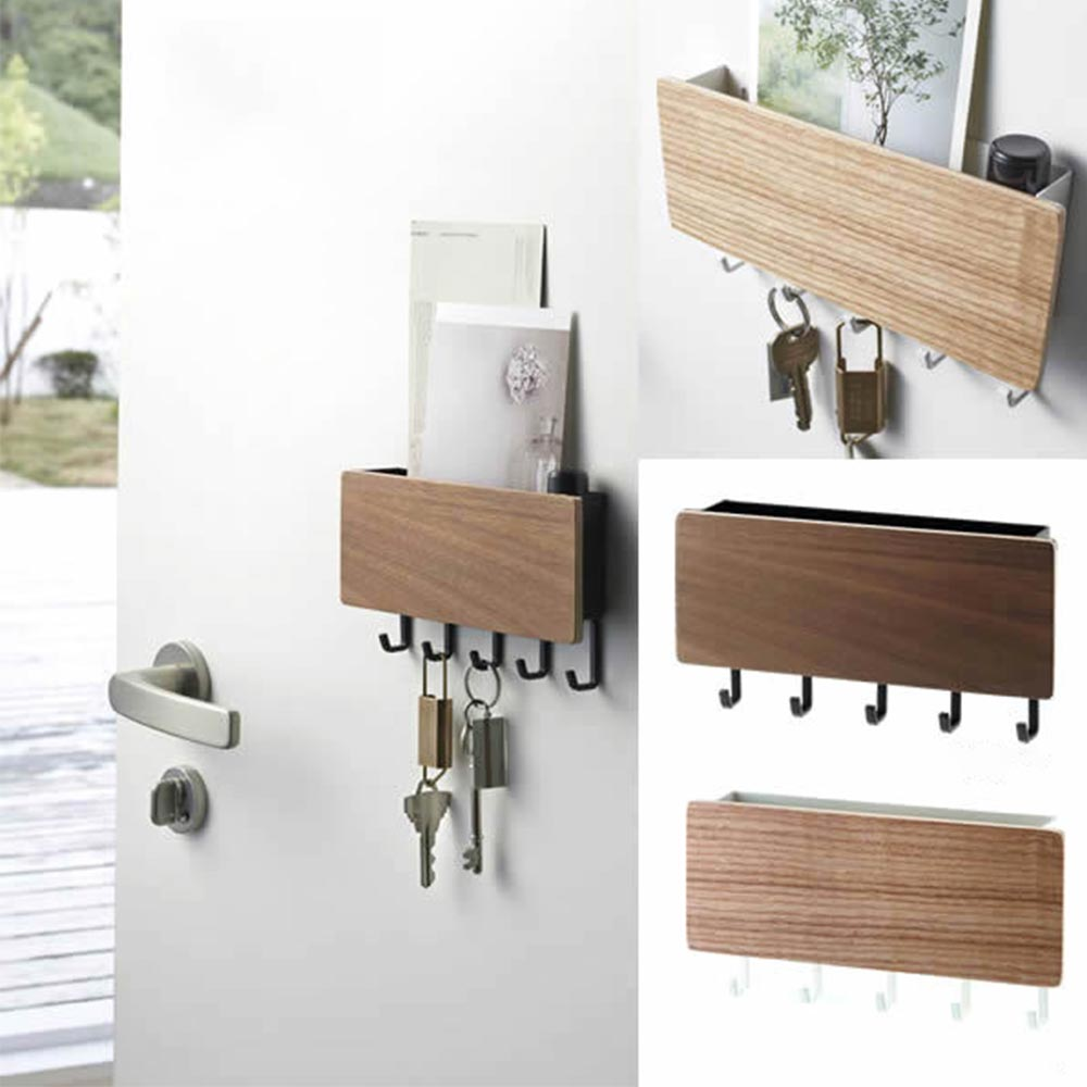 Home Best  Key Rack Wood Wall Shelf