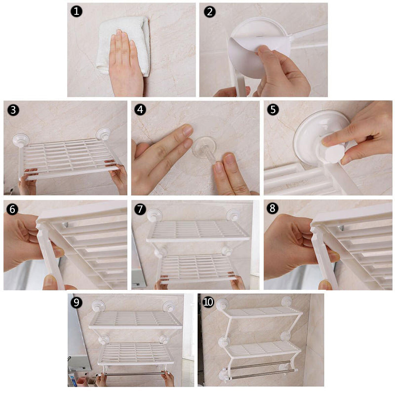 Home Best Bathroom Double layer Shelf plastic double towel holder