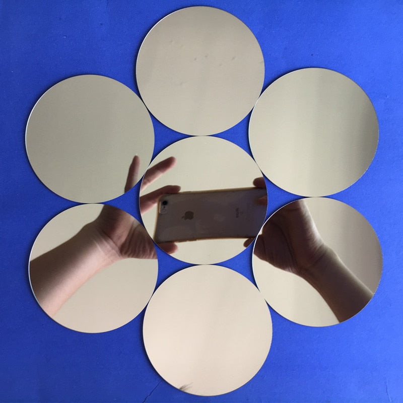 Home Best 10pcs Diameter Acrylic Wall Mirrors
