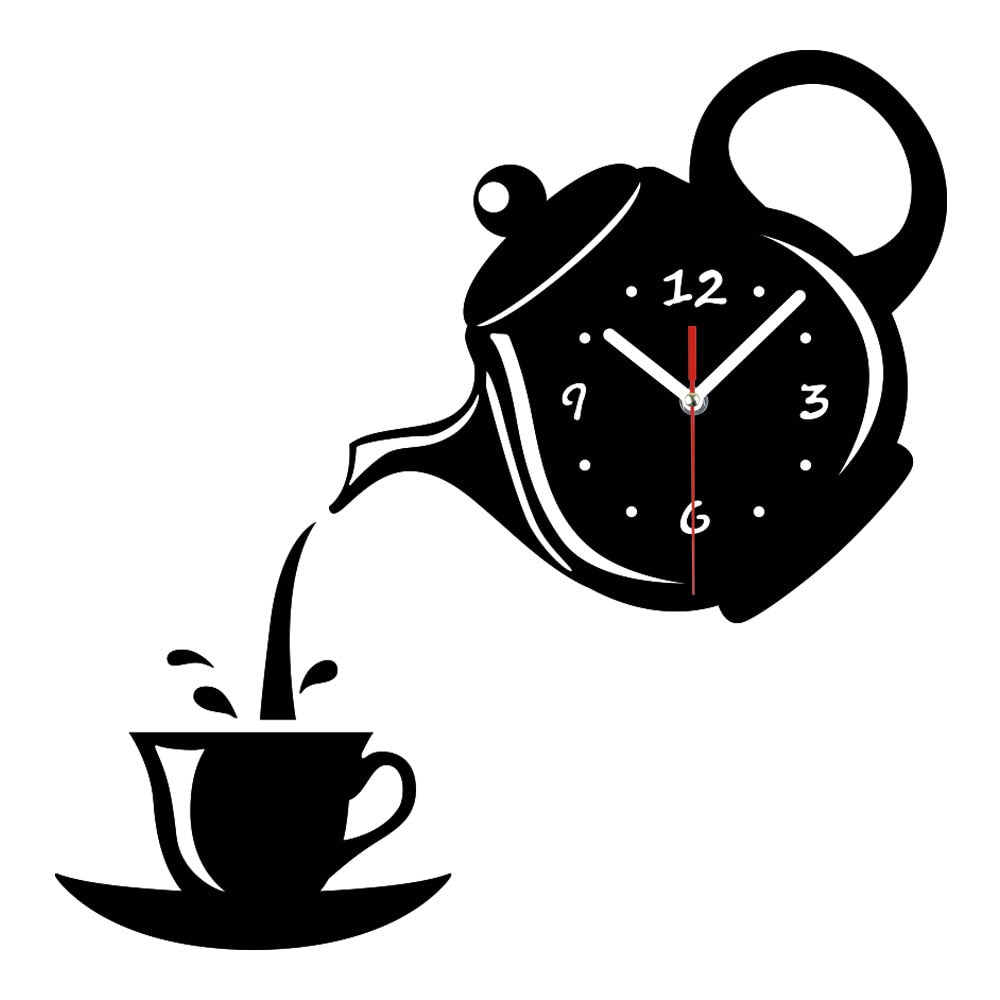 Home Best  Coffee Cup Teapot Wall Clock