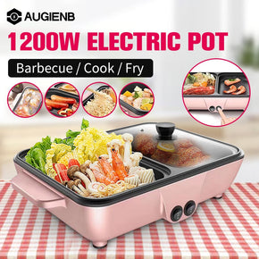 2 in 1 Mini Electric Cooking Pot
