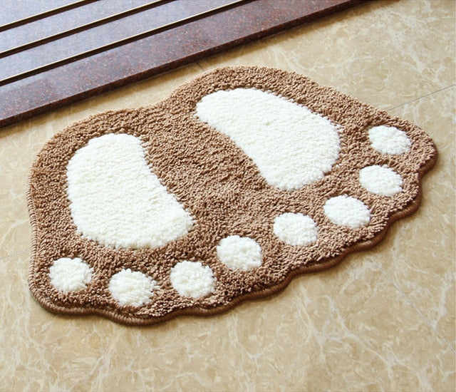 Home Best Foot Print Bath Mats
