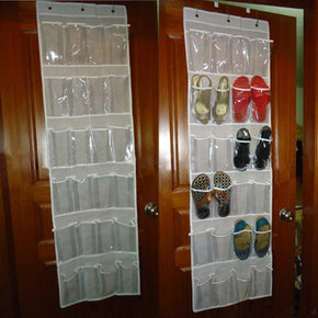Home Best 24 Pockets Behind Door Shoe Rack Hanging Shoes Storage