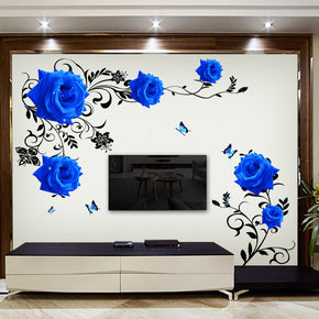 Home Best Blue Flower Sticker