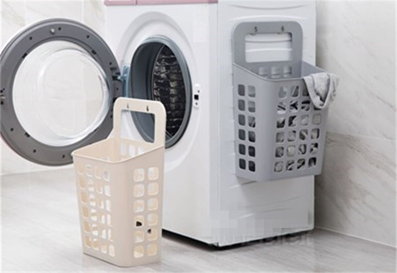 Home Best Hanging Laundry  Dirty Clothes Storage Basket