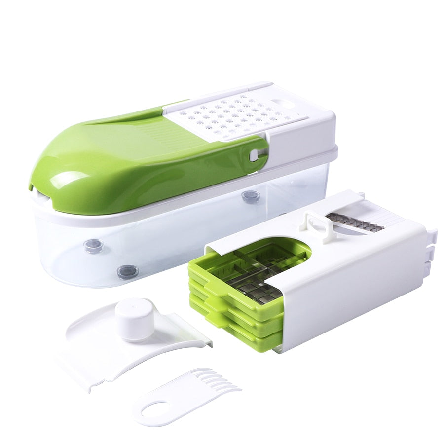 Home Best Vegetable Slicer with 8 Dicing Blades Manual