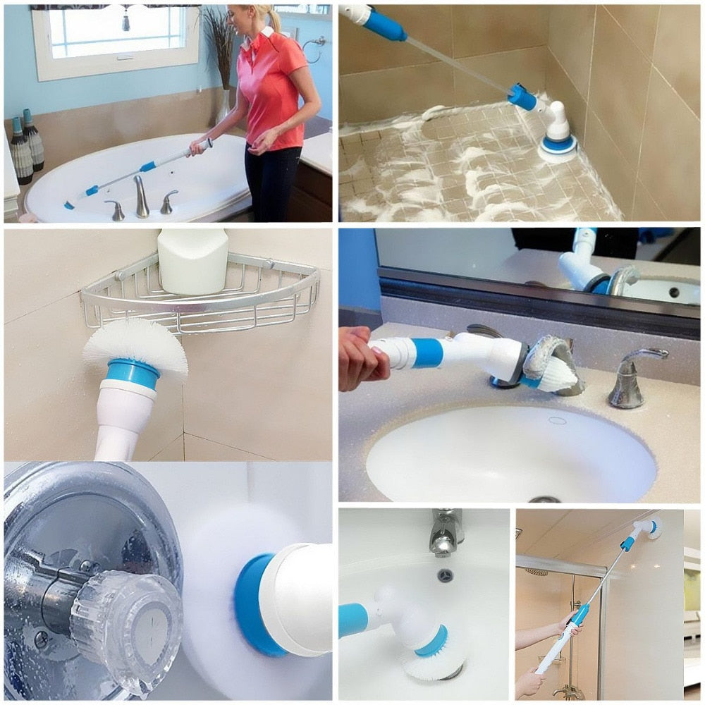 Home Best Adjustable  Charging Waterproof Electric Cleaning Brush