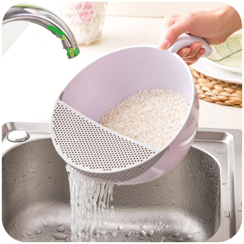 Home Best  Plastic Water Basket Fruit Basket Wash Rice Sieve
