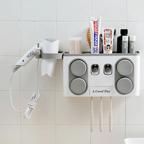 Home Best  Bathroom Set Accessories Toothbrush Holder Toothpaste Dispenser