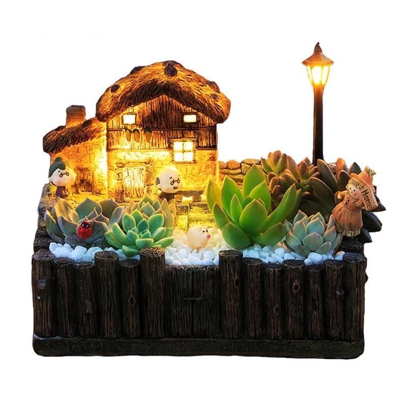 Home Best flowerpot with light decorative Grasse Cottage