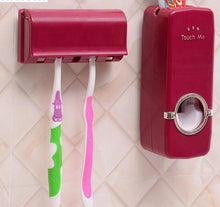 Load image into Gallery viewer, Automatic Toothpaste Dispenser 5 Toothbrush Holder Set Wall Mount
