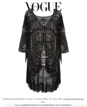 Load image into Gallery viewer, Luna poncho black