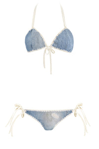 Denim Destroyed Bikini