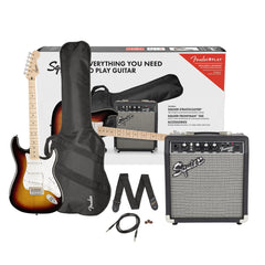 Squier Limited Edition Affinity Stratocaster Electric Guitar Package - Sunburst