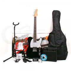 Encore E2 Electric Guitar Blaster Pack - Black