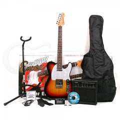 Encore E2 Electric Guitar Blaster Pack - Sunburst
