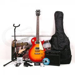 Encore E99 Electric Guitar Package - Cherry Sunburst