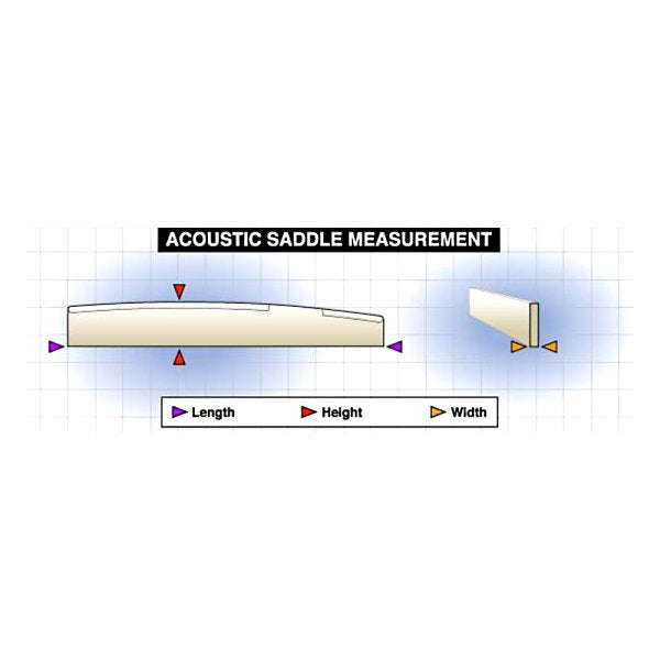 "Tusq Acoustic Saddle 1/8"" - Blank (PQ-9000-00)"